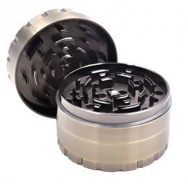 Large 80mm 4-Level Zinc Alloy Herb Grinder - grinders, accessories