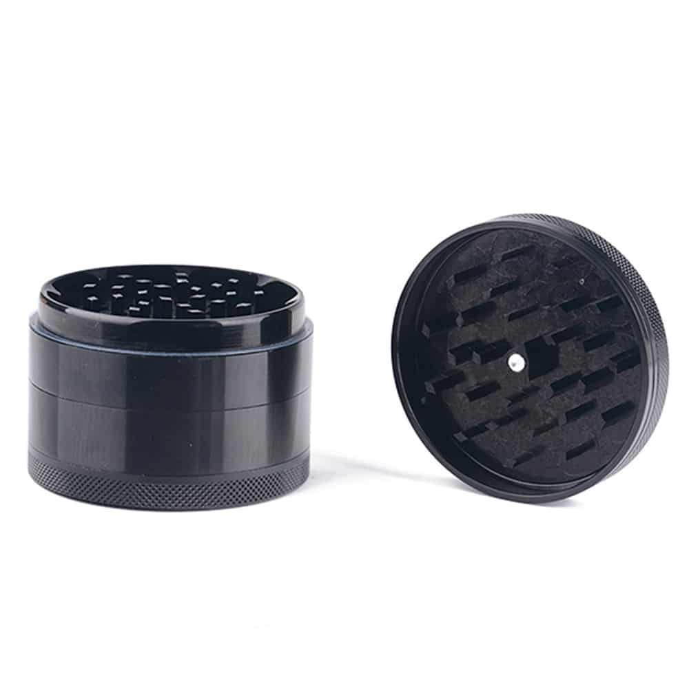 Black 4-layer Aluminum Herb Grinder