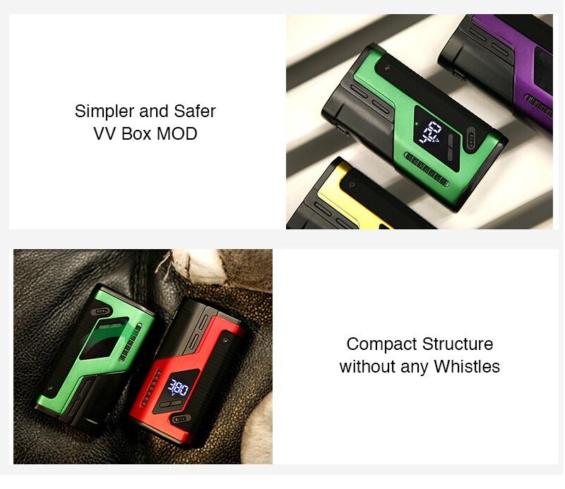 DOVPO Box MOD with LED Battery Level Indicator & Multiple Protections E-cig Vape - vapes, pens