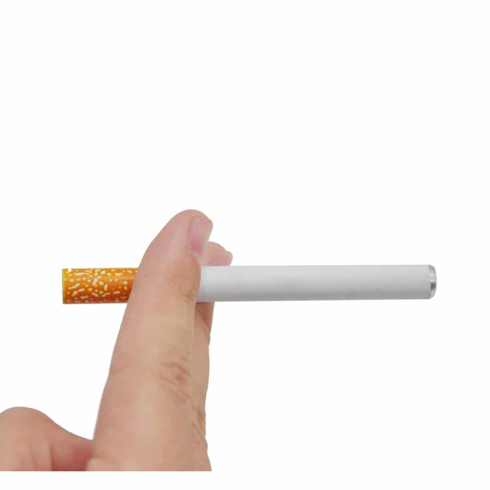 Cigarette Shape Metal Ceramic/Aluminum One Hitter Smoking Pipe