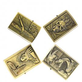 High-quality Windproof Bronze Kerosene Lighters – Multiple Designs