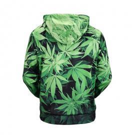 Weed Leaf Hooded Pull Over Hoody