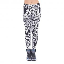 Black & White Large Leaf Leggings