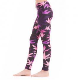 Pink & Purple Weed Leaf Leggings