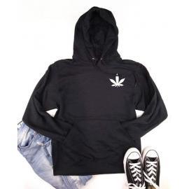 Cannabis Leaf Logo Hoodie