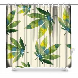 Tie Dye Cannabis Leaf Shower Curtain