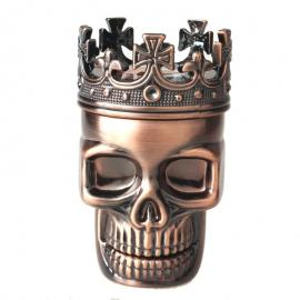 Classic King Skull 3 Layer Metal Tobacco Herb Grinder
