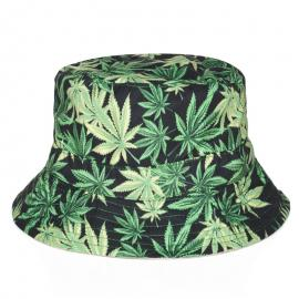 Weed Leaf Printed Bucket Hat