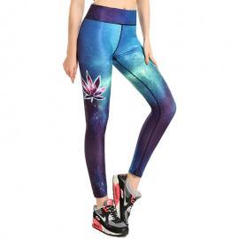 3D Printed Galaxy Leaf Leggings for women