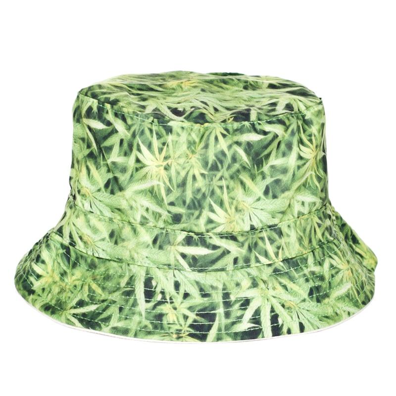 Weed Leaf Printed Bucket Hat