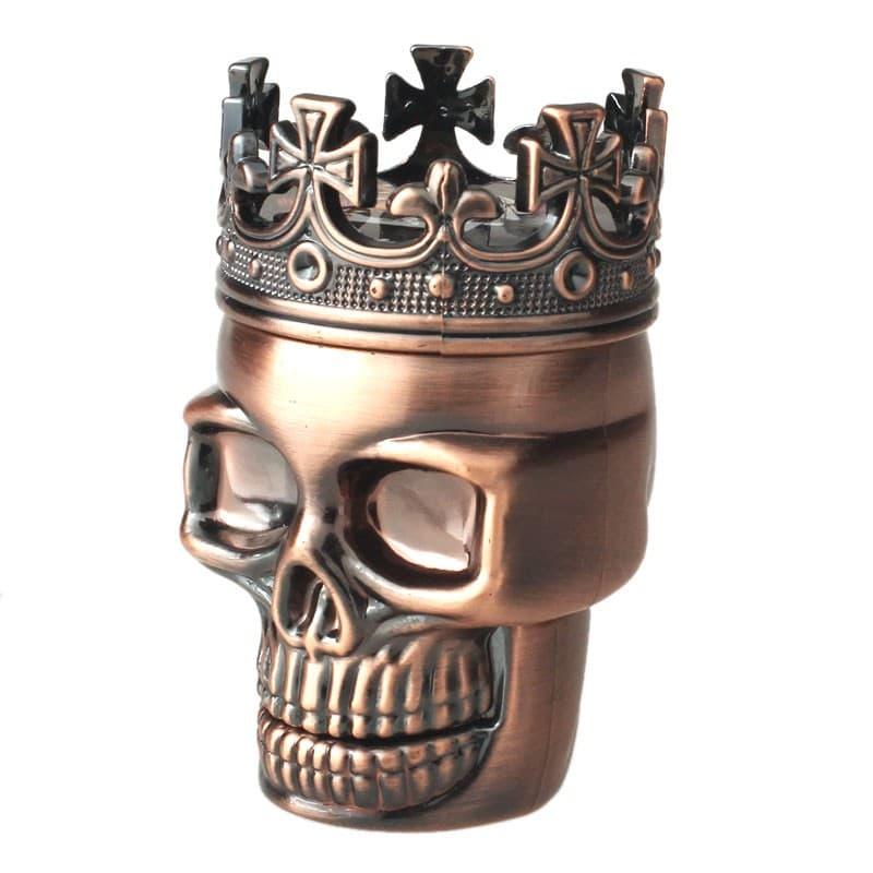 Classic King Skull 3 Layer Metal Tobacco Herb Grinder