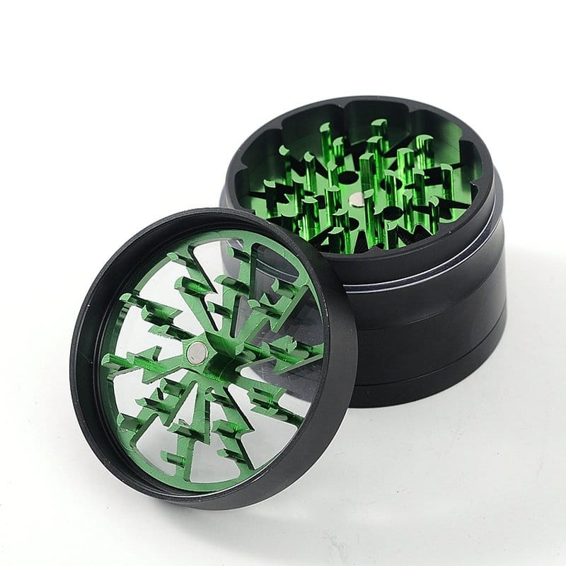 Lightning-shaped 4 Layers Herb Grinder