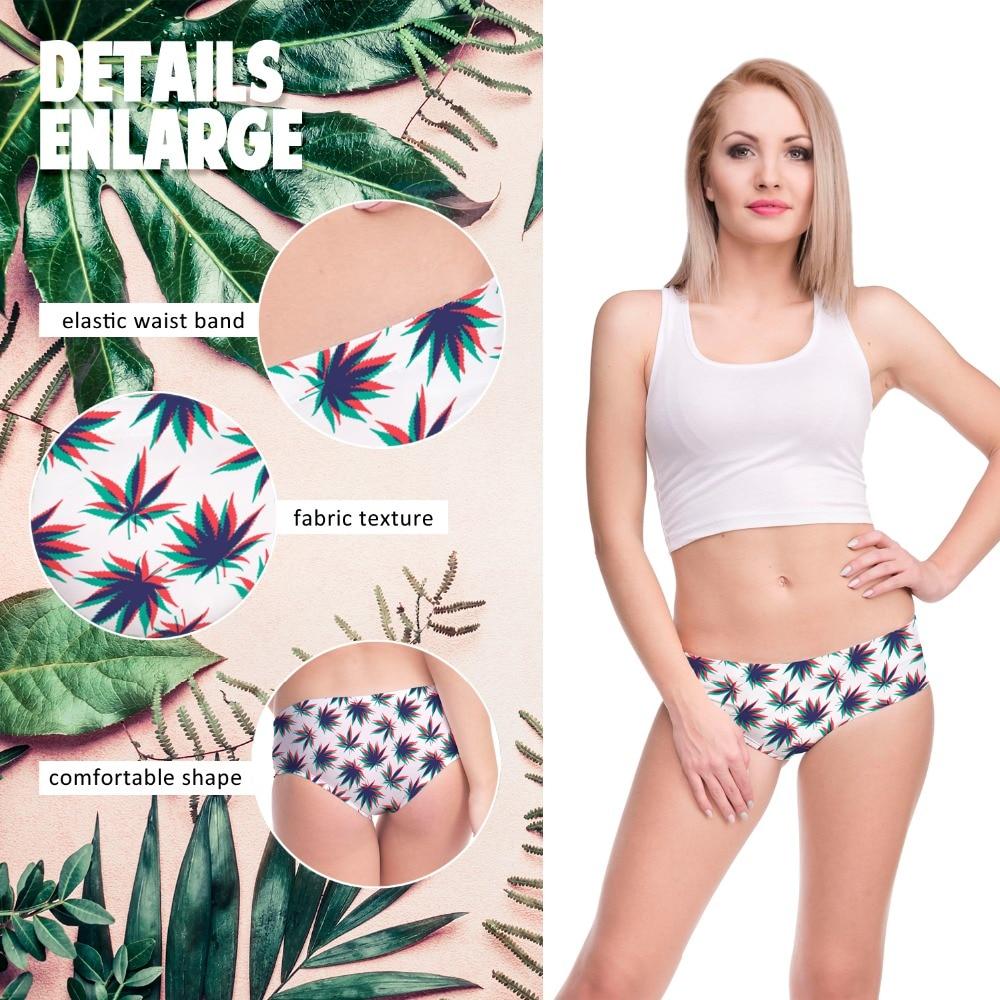 Trippy 3D Weed Leaf Panties – One Size