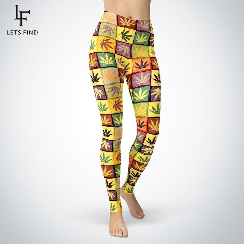 Cannabis Remedy Print Leggings