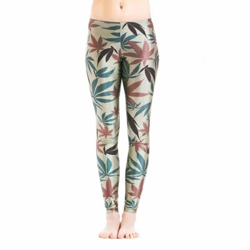 Seasonal Cannabis Leggings – One Size