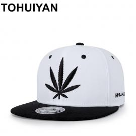 Two Tone – Hemp Leaf Snapback Cap
