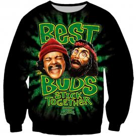 Best Buds Stick Together Cheech & Chong Sweatshirt