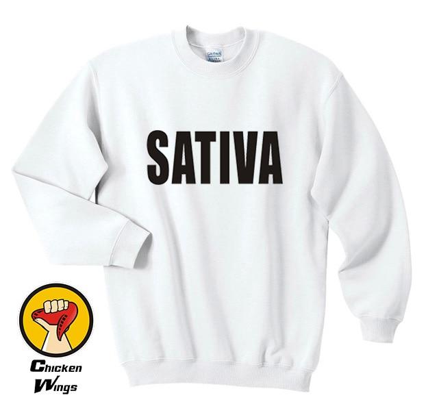 Unisex Indica Weed Shirt Cannabis Crewneck Sweatshirt