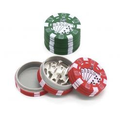 3 Layers Poker Chip Style Herb Tobacco Grinder