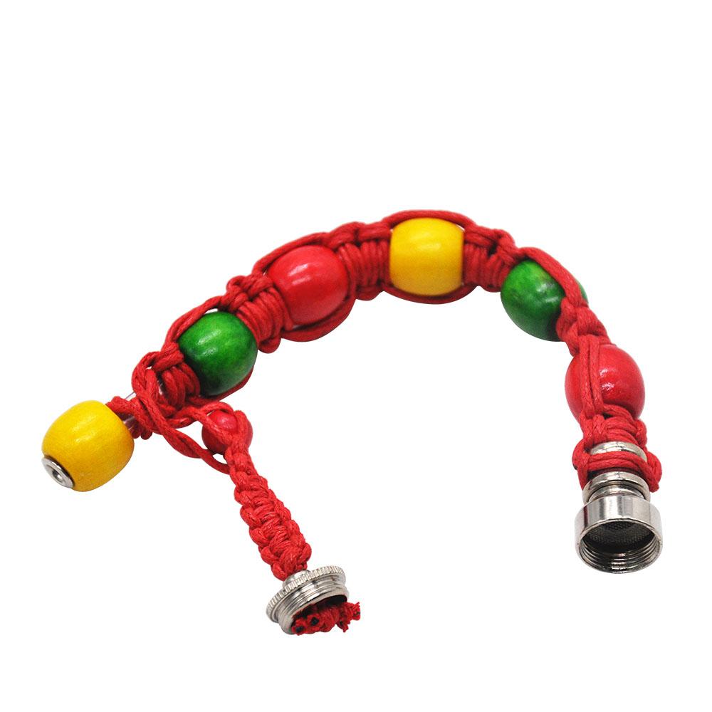 Jamaican Rasta Beaded Bracelet Pipe