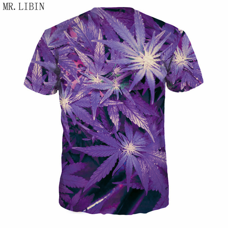 3D Hi Res Purple Weed Leaf T-Shirt | Limited Edition