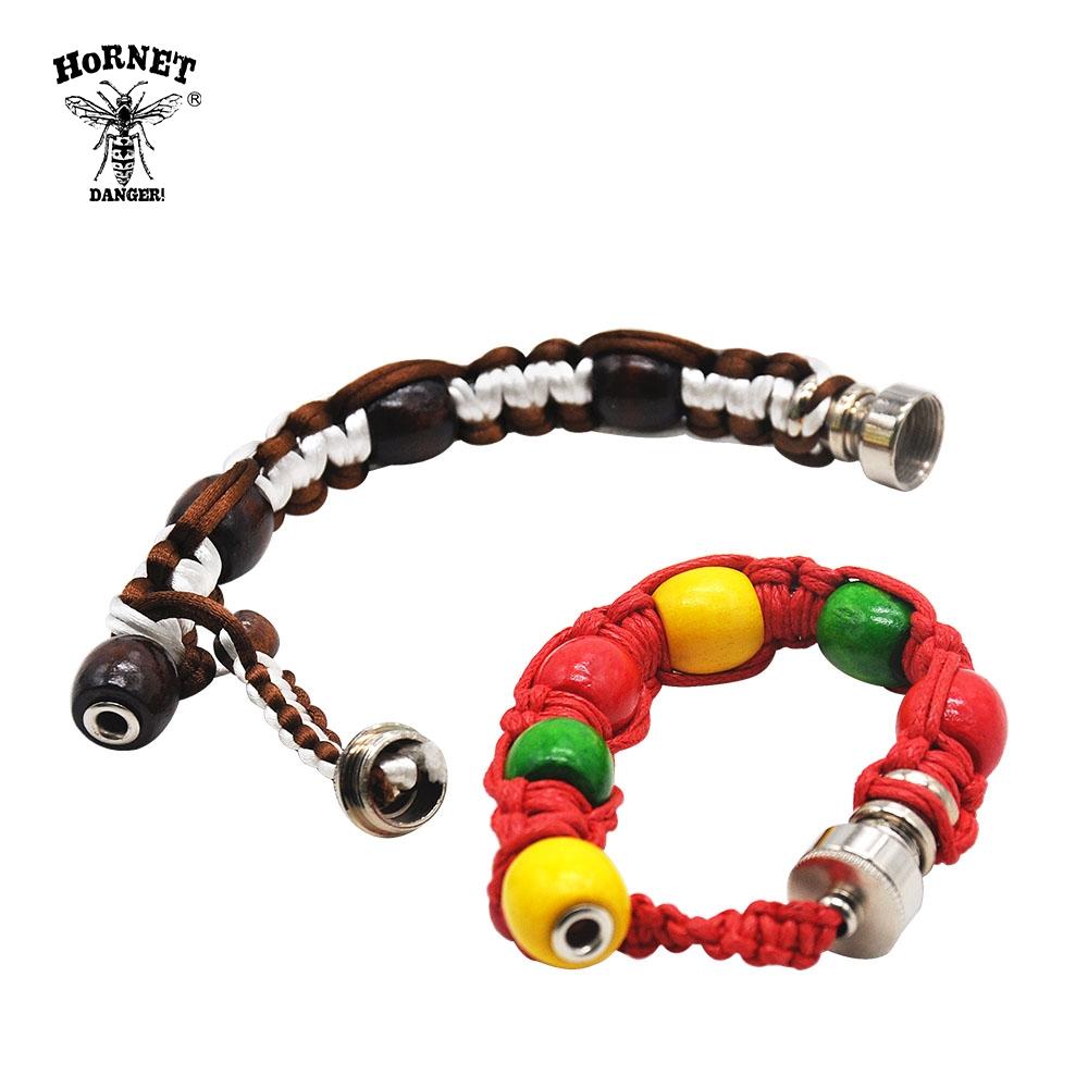 Jamaican Rasta Beaded Bracelet Pipe - weed-bracelets, smoking, pipes