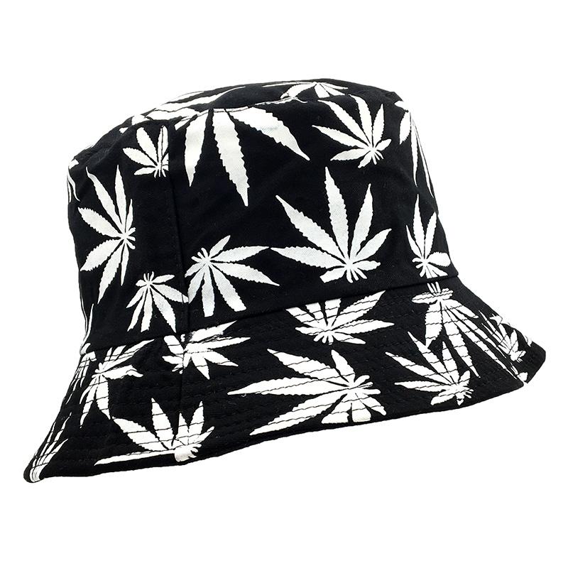 Fisherman Style Multi Color Weed Leaf Bucket Hat 9