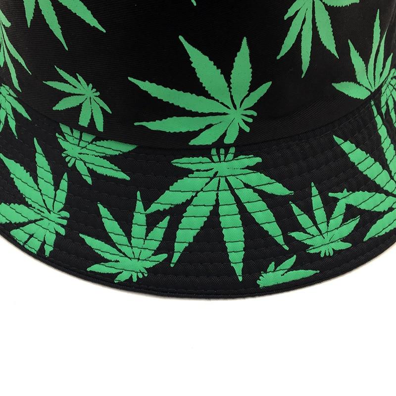 Fisherman Style Multi Color Weed Leaf Bucket Hat