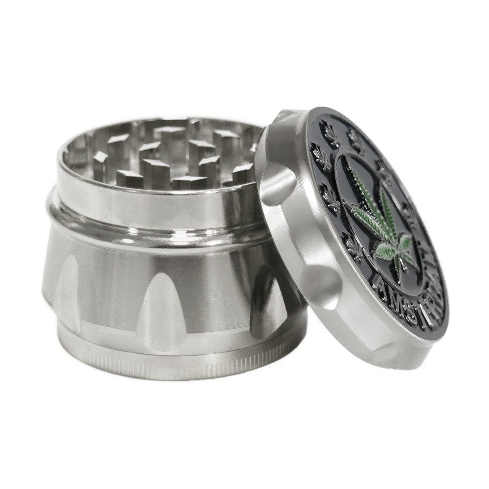 Formax420 4 Layers Leaf Design Hand Herb Grinder - grinders, accessories