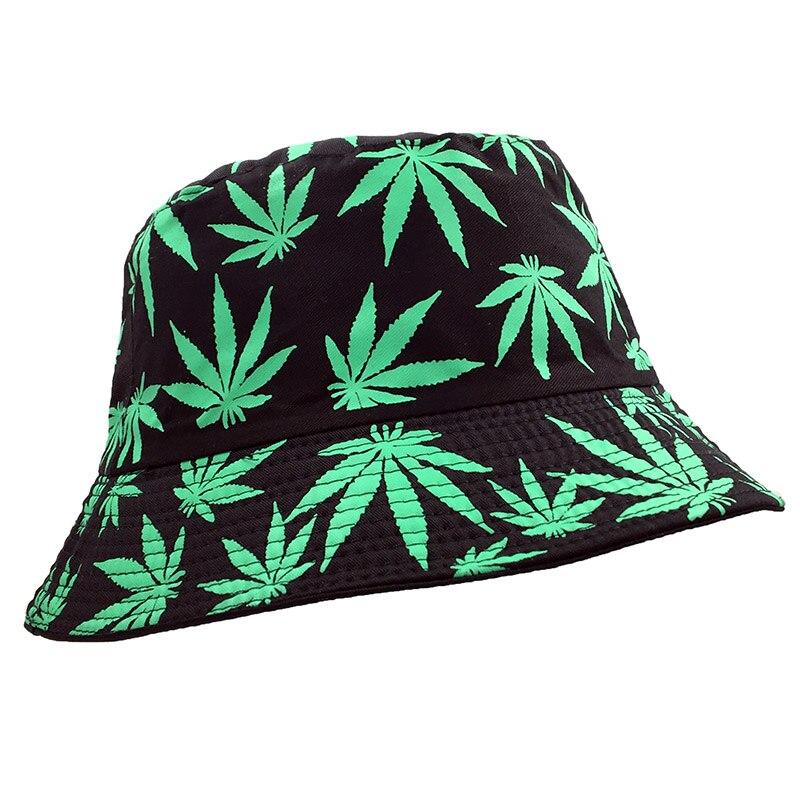 Fisherman Style Multi Color Weed Leaf Bucket Hat 8