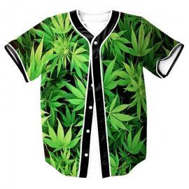 3D Printed Weed Leaf Baseball Jersey