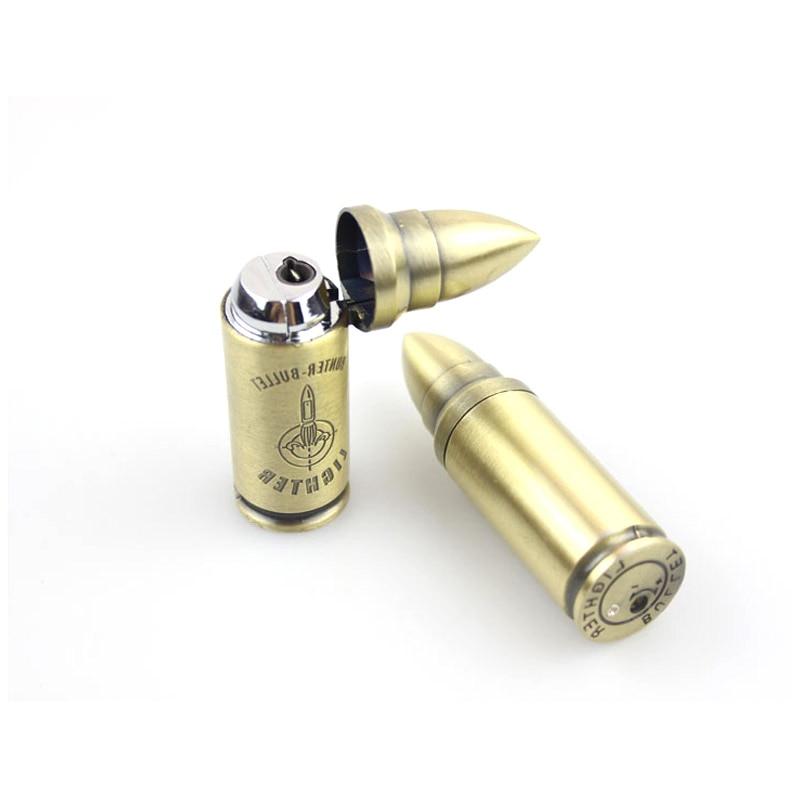 Compact Windproof Butane Torch Bullet Lighter - lighters