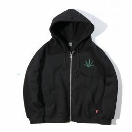 Indica Pot Leaf Marijuana Casual Zip UP Hoodie