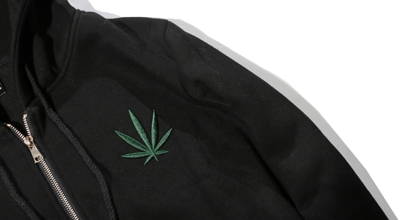 Indica Pot Leaf Marijuana Casual Zip UP Hoodie - hoodies, apparel