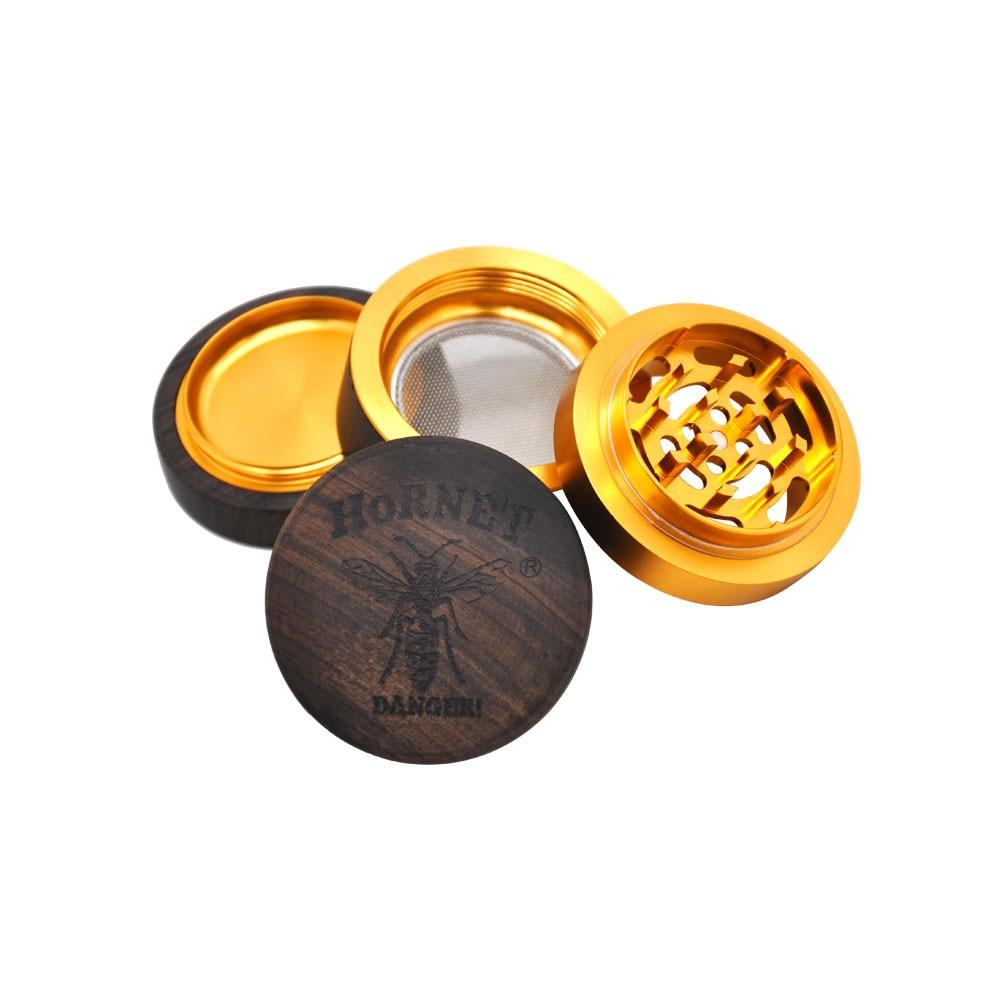 60MM  Premium Rosewood Handmade Herb Grinder - 4 Layers - grinders, accessories