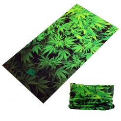 3D Weed Leaves Seamless Bandanna Neck Scarf
