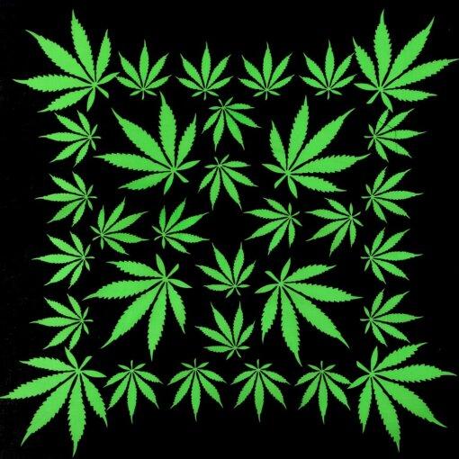 Green & Black Legalize Weed Bandanna Headscarf