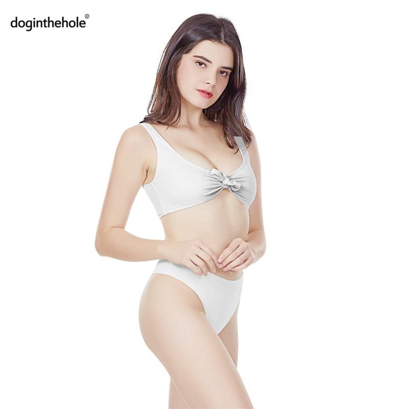 Leafy Marijuana White & Pastel Print Tie-Front Bikini Set - womens-apparel, weed-bikinis, swimwear, google-feed-2, google-feed, apparel