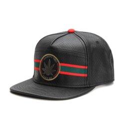 Smoking Good Black Leather Snapack Hat