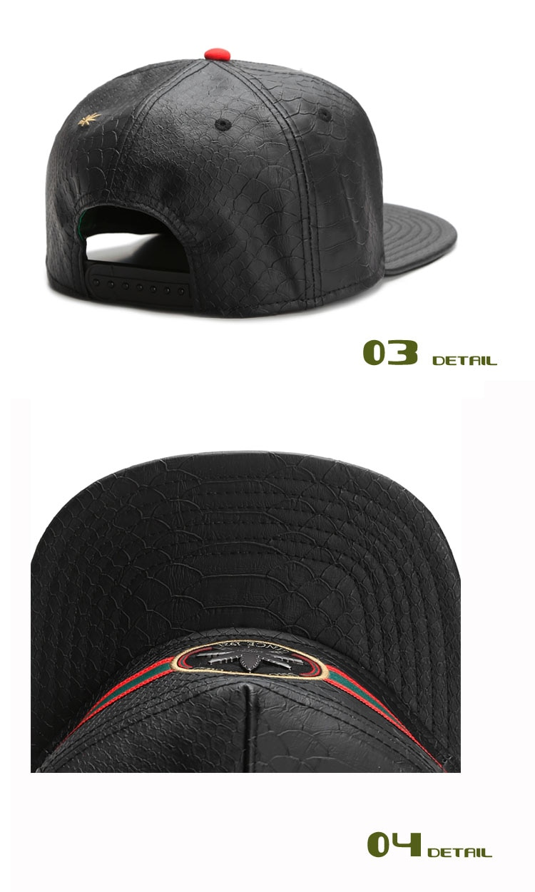 Smoking Good Black Leather Snapack Hat - weed-hats-beanies, google-free