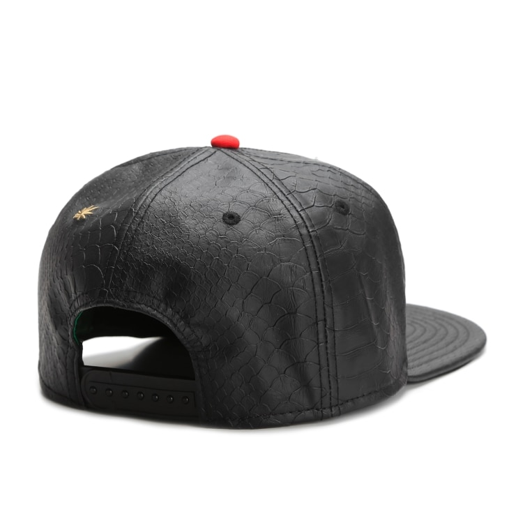 Smoking Good Black Leather Snapack Hat