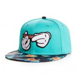 Mickey Hands Blunt Roll Snapback Hat