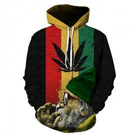 Old Rasta Man Smoking Weed Hoodie