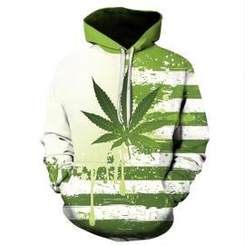 Dripping Weed Flag Hoodie